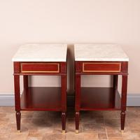 Pair of French Marble Topped Tables (11 of 14)