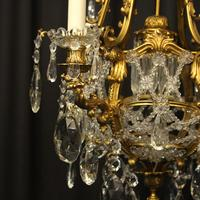 French Gilded Bronze Antique Chandelier (3 of 10)