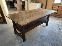 19th Century Pine & Oak Monk's Bench / Work Table (3 of 10)