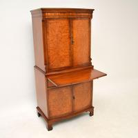 Antique Georgian Style Burr Walnut Cabinet (7 of 11)