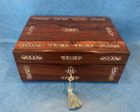 William IV Mother Pearl Inlaid Rosewood Box (10 of 12)