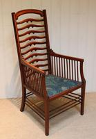 Arts And Crafts Mahogany Ladder Back Armchair (4 of 10)