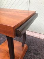 Art Deco Walnut & Ebonised Table (3 of 9)
