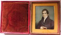 Hand Painted Miniature Portrait 1 of 2 Husband & Wife (3 of 4)