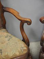 Pair of Queen Anne Style Walnut Armchairs (13 of 17)