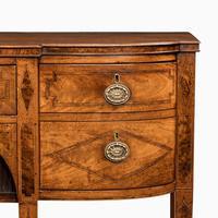 George III breakfront yew-wood inlaid mahogany sideboard (2 of 10)