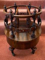 Most Unusual & Very High-quality Rosewood 3-section Canterbury of Oval Shape (4 of 6)