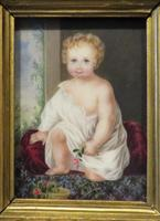 1831 Miniature Portrait Young Girl Holding a Flower by Mary Frederica Glyn (3 of 4)