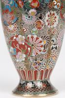 Oriental, Chinese / Japanese Exceptional Silver Metal Cloisonne Vase (17 of 25)