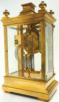 Antique French Table Regulator with Compensating Pendulum 8 Day 4 Glass Mantel Clock (5 of 12)