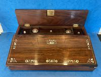 William IV Rosewood Lap Desk with Mother of Pearl Inlay (9 of 12)