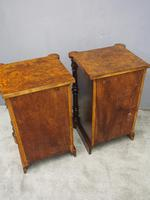 Pair of Victorian Figured Walnut Bedsides (10 of 10)