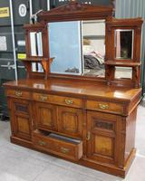 1910's Good Large Carved Oak Sideboard with Mirror Back (3 of 7)