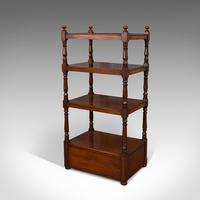 Antique Whatnot, English, Mahogany, Four Tier, Display Stand, Victorian c.1850 (4 of 12)