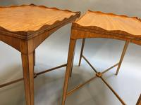 Pair of Edwardian Satinwood Occasional Tables (10 of 11)
