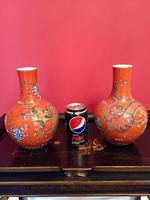 Pair of Chinese Red Oxide Five Claw Dragon Vases c.1900 (9 of 10)