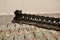 Decorative Victorian Cast Iron Fender (7 of 8)