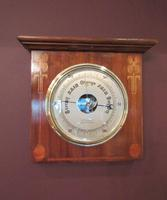 Superb Art Nouveau Antique Inlaid Barometer (2 of 7)