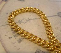 Vintage Pocket Watch Chain 1970s 12ct Gold Plated Curb Link Albert With T Bar (5 of 9)