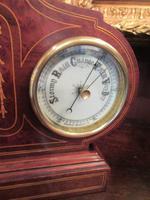 Top Quality Antique Inlaid Clock Barometer (6 of 10)