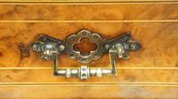 Victorian Inlaid Burr Walnut Pier  / Display Cabinet (22 of 24)