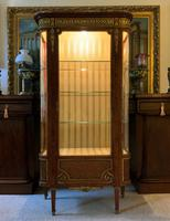 Exceptional 19th Century French Kingwood Parquetry Gilt Metal Vitrine Display Cabinet (2 of 17)