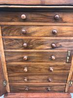 Antique Small Walnut Wellington Collectors Chest (9 of 10)