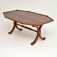 Antique Yew Wood Oyster Veneer Coffee Table (7 of 7)