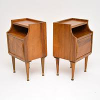 1960's Pair of Vintage Italian Walnut Bedside Cabinets (4 of 10)