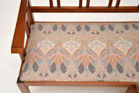 Antique Arts & Crafts Solid Walnut  Corner Settee from Liberty of London (6 of 12)