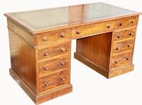Superb Quality Victorian Mahogany Pedestal Desk (3 of 7)