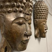 Pair of c19th Carved Indian Masks (5 of 6)