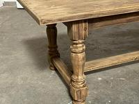 Nice Large Bleached Oak Farmhouse Dining Table With Extensions (8 of 35)