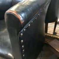 Early 20th Century Leather Chair with Crest (6 of 6)