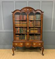 Burr Walnut Dome Topped Bookcase (15 of 18)