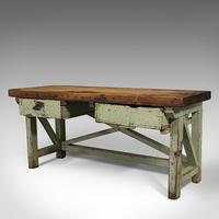 Large Antique Silversmith's Table, English, Pine, Industrial, Bench, Victorian (3 of 12)