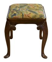 19th Century Walnut George I Style Stool (2 of 6)