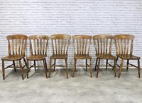 Matched Set of 6 Late Victorian Windsor Kitchen Chairs (2 of 5)
