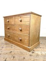 Antique Pale Oak Chest of Drawers (7 of 10)