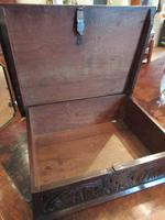 Early Period Antique Oak Deed Box c.1700 (4 of 7)
