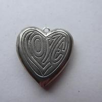 Heart Shaped Silver Locket - No Chain (3 of 8)