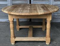 Round Farmhouse Dining Table with leaf (8 of 11)