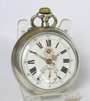 Antique Silver Wille Frères Roskopf Pocket Watch (2 of 5)