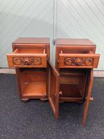 Pair of Antique Oak Bedside Cabinets (8 of 8)