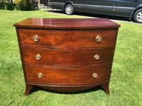 George III Small Mahogany Bow Front Chest of Drawers (2 of 11)