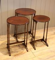 Circular Mahogany Nest of Three Tables (3 of 9)
