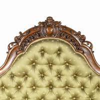 Elaborate Victorian Shaped Walnut Sofa (7 of 12)