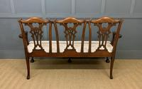 Mahogany Chippendale Style Triple Chair Back Settee (16 of 18)