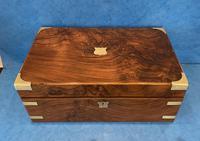 Victorian Brassbound Figured Walnut Writing Slope (2 of 18)