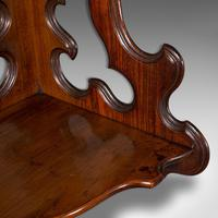 Antique 3 Tier Hanging Whatnot, English, Rosewood, Corner Wall Shelf, Victorian (7 of 12)
